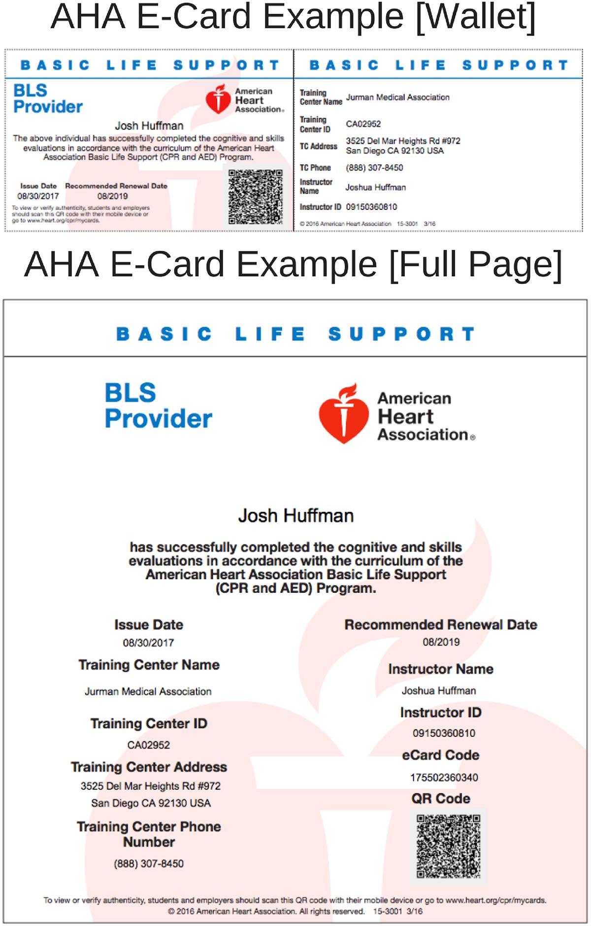 AHA E-Card Example